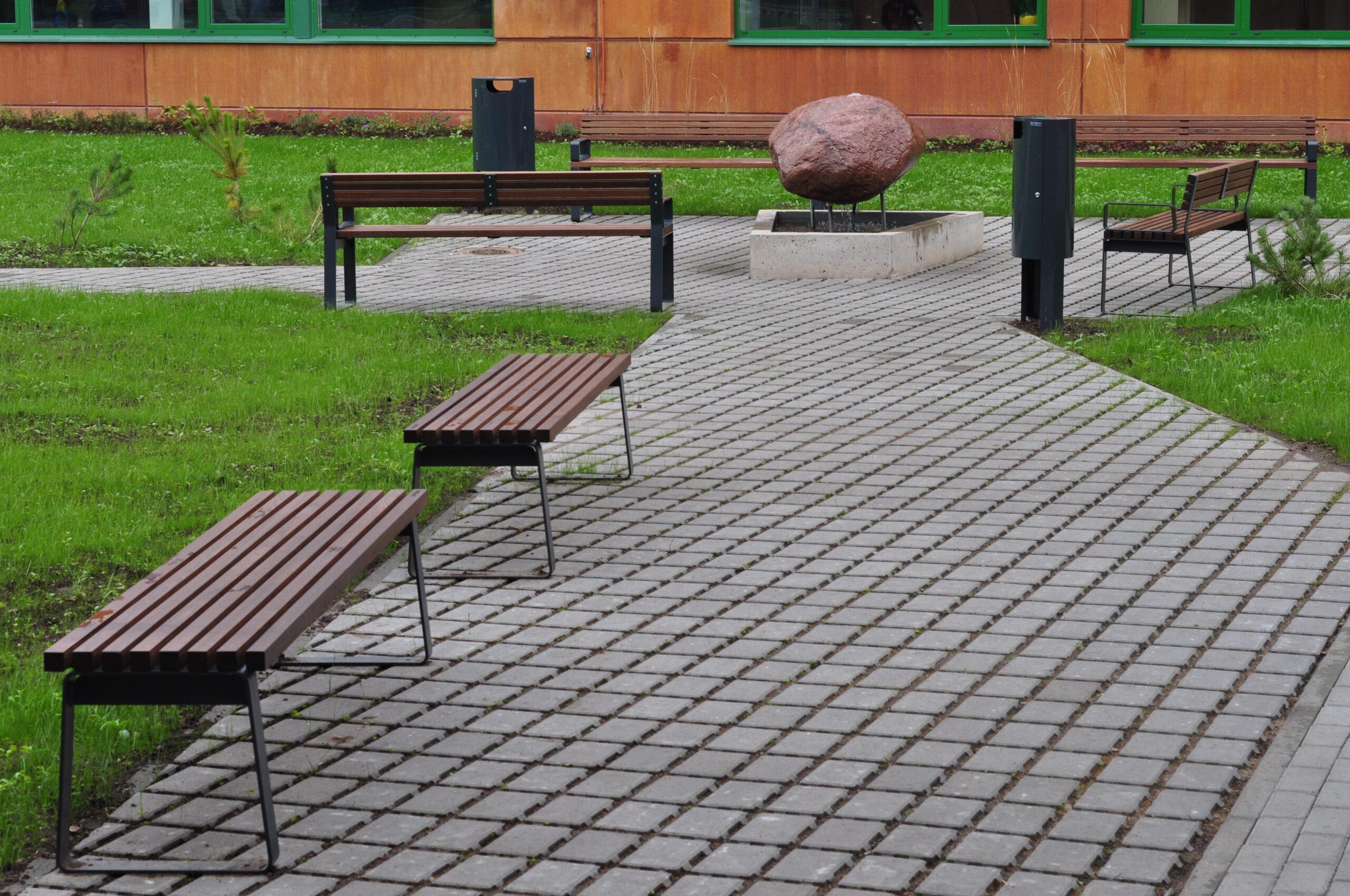 park bench Prima, without backrest