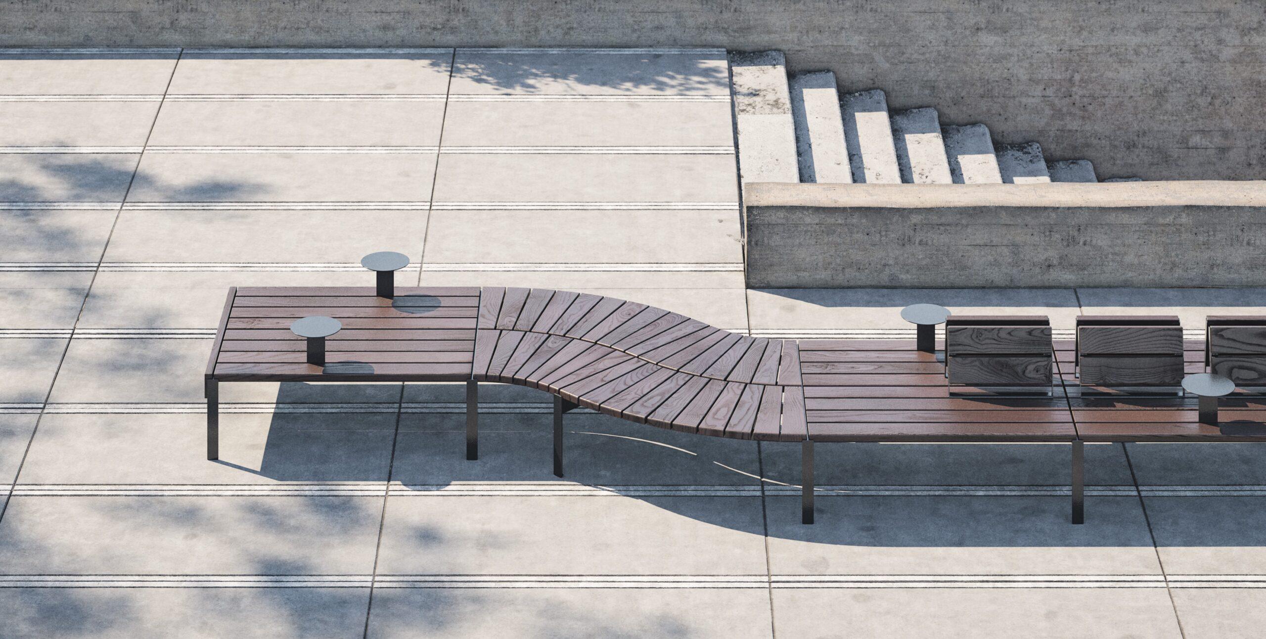 modular park bench Jada set2